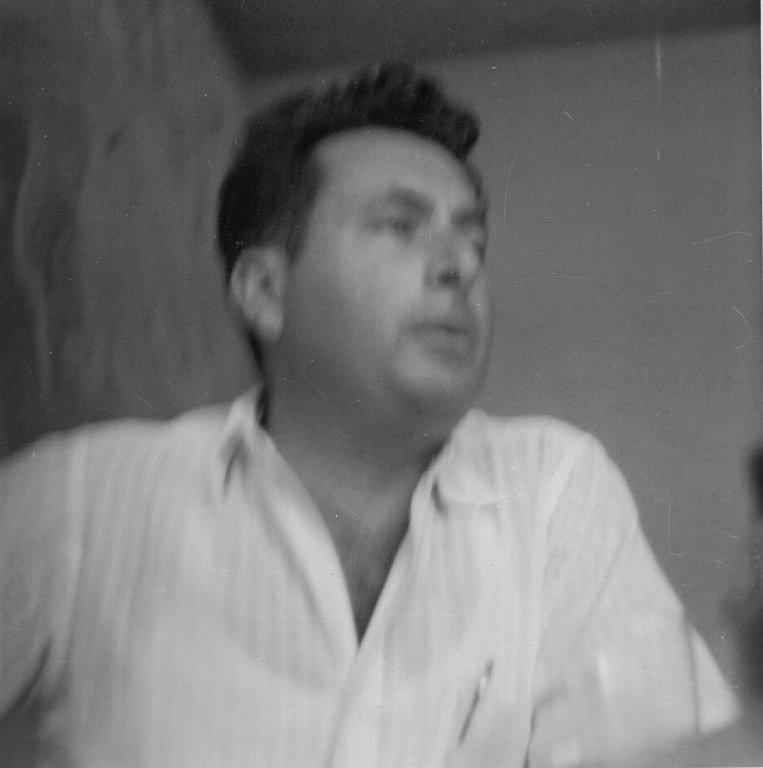 Israeli novelist, Moshe Shamir, ca. 1958.
