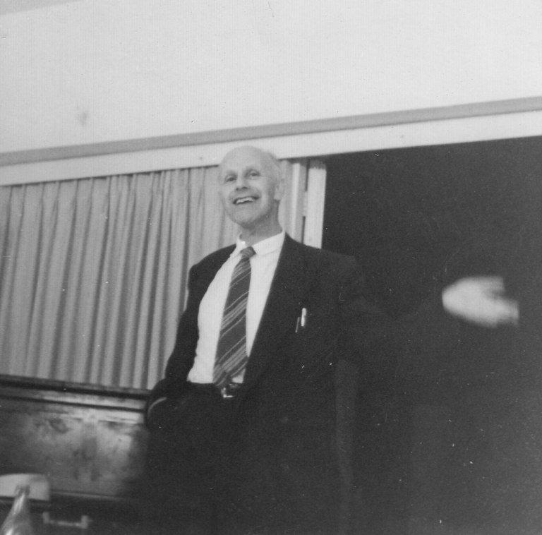 Dr. Akiva Ernst Simon, Professor at the Hebrew University, ca. 1958.
