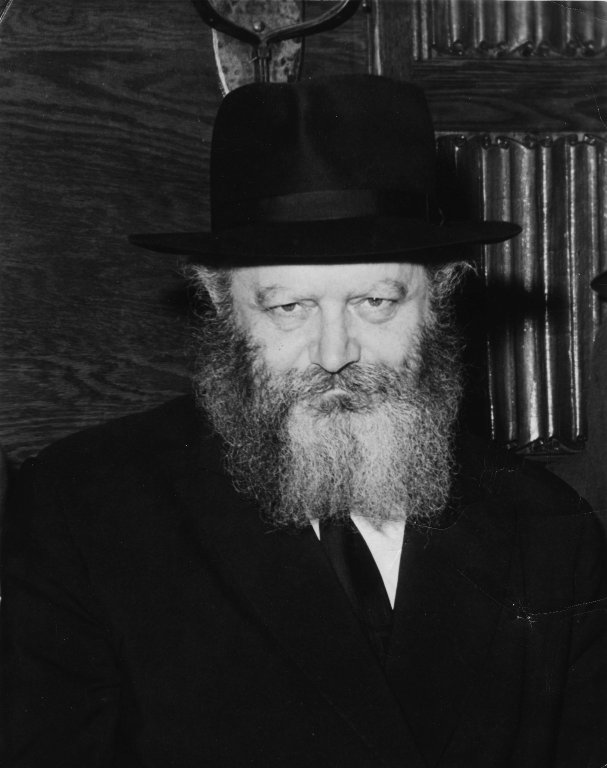 A Portrait of Rabbi Menachem Mendel Schneerson, the Seventh Lubavitcher Rebbe, ca. 1970.