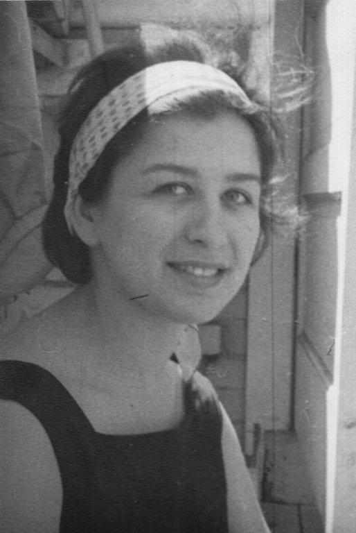 Shirley Fineblit, one of Rabbi Zalman Schachter's Hillel students at the University of Manitoba, Winnipeg, Manitoba, Cananda.
