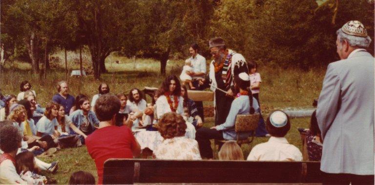 Rabbi Zalman Schachter performing a wedding in Deadwood, SD.