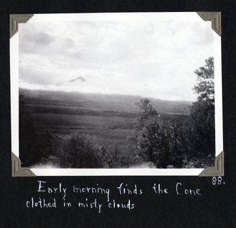 Lone Cone in mysty clouds