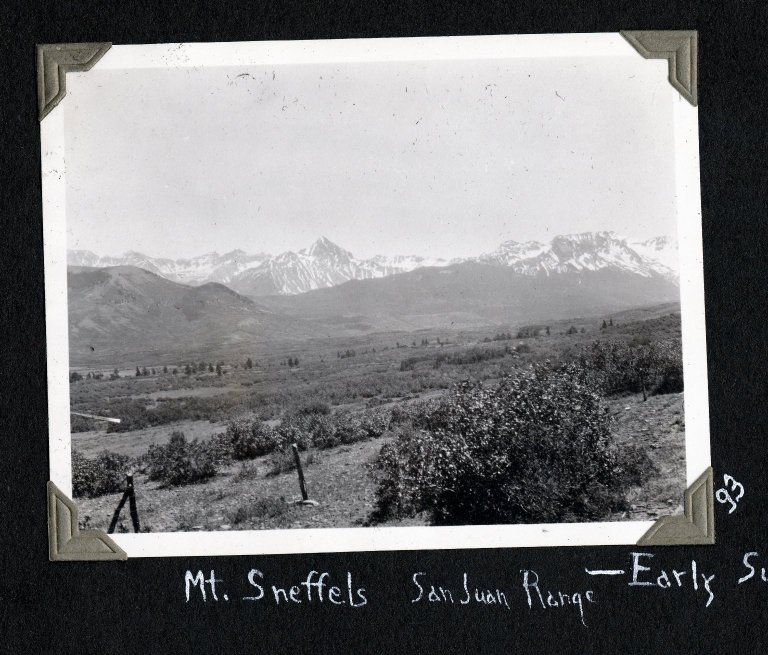 Mount Sneffels and San Juan Range