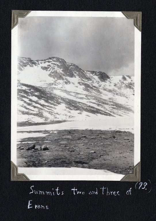 Summits two and three of Mount Evans