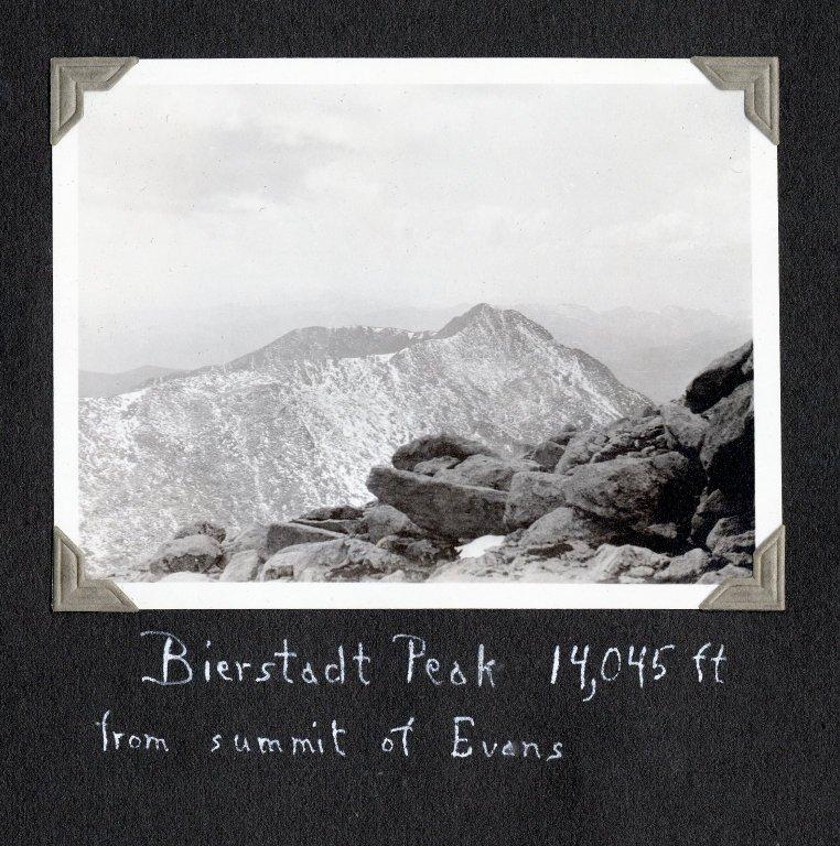 Bierstadt Peak from summit of Mount Evans