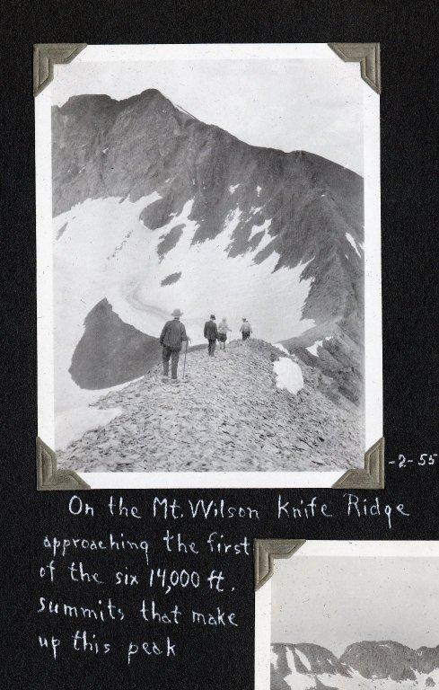 On the Mount Wilson Knife Ridge