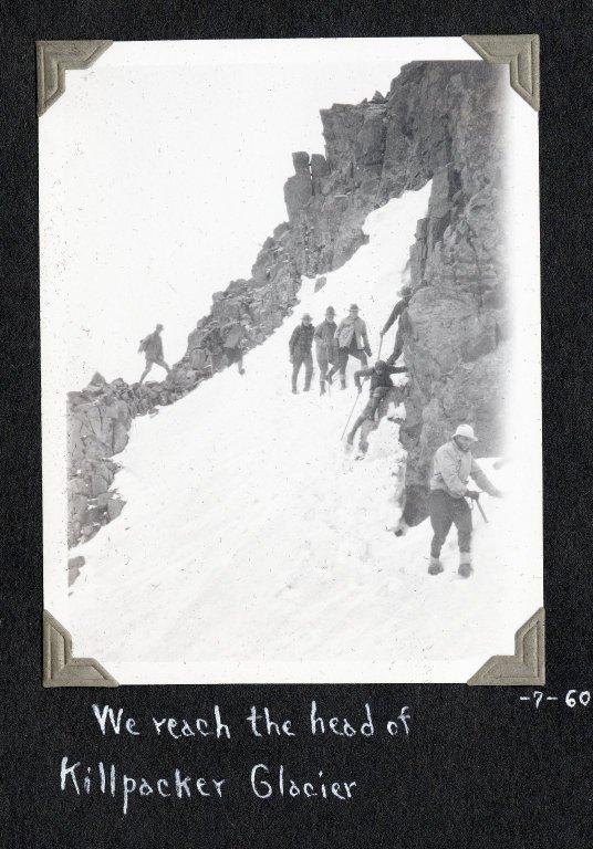 We reach the head of Killpacker Glacier