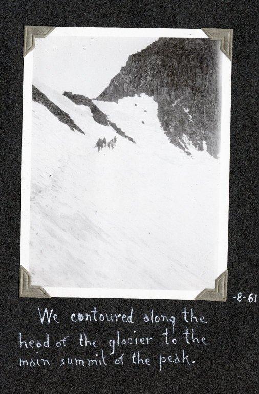 Crossing Killparker Glacier toward the summit of Mount Wilson