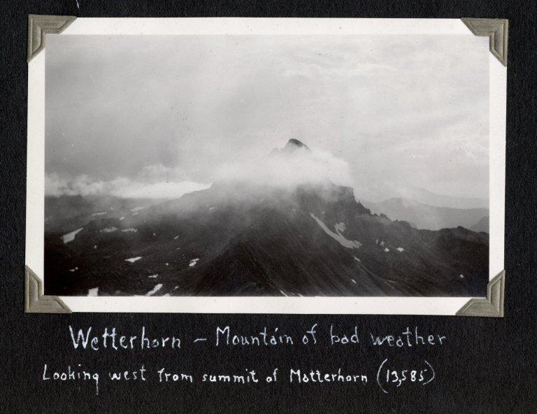 Wetterhorn Peak, seen from Matterhorn summit