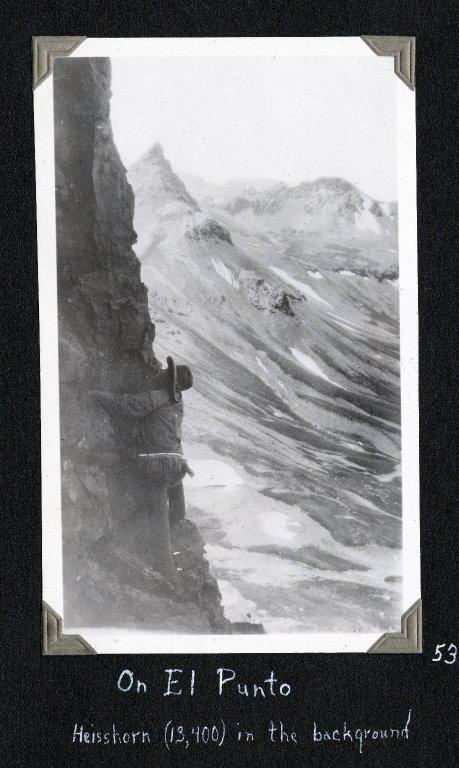 Dwight Lavender on El Punto with Heisshorn Peak in background