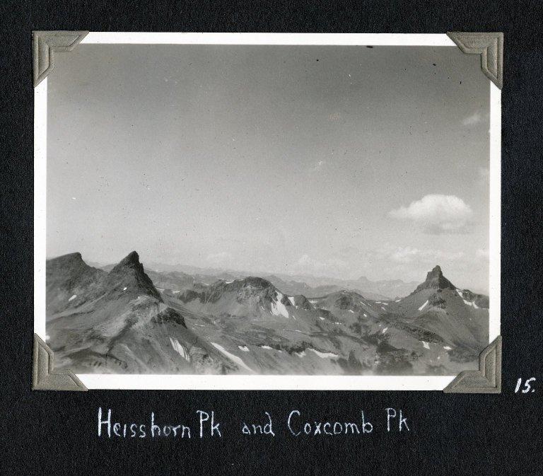 Heisshorn Peak and Coxcomb Peak