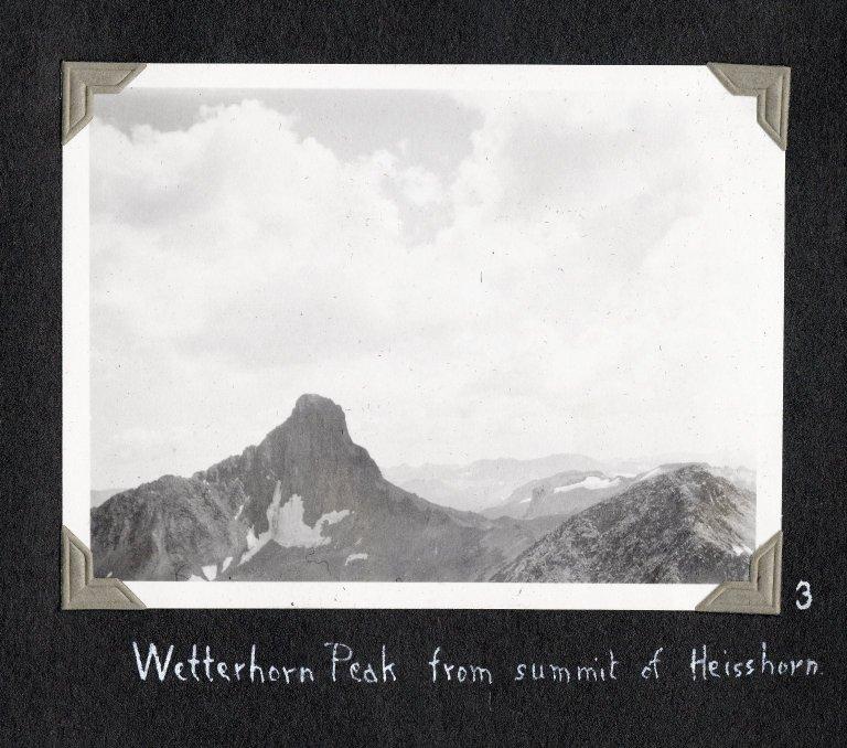 Wetterhorn Peak from summit of Heisshorn Peak