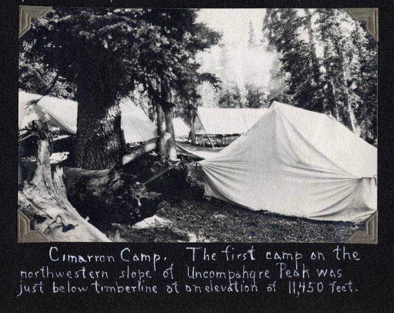 Camp on the northwestern slope of Uncompahgre Peak