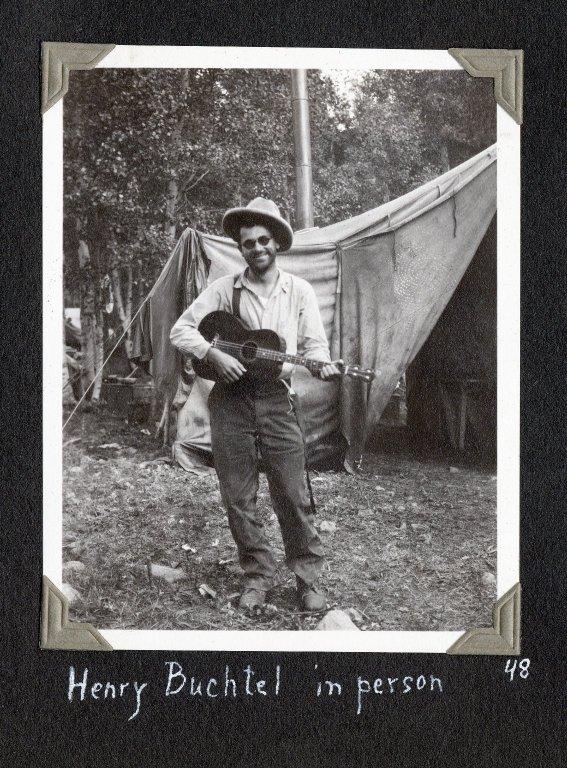 Henry Buchtel with guitar
