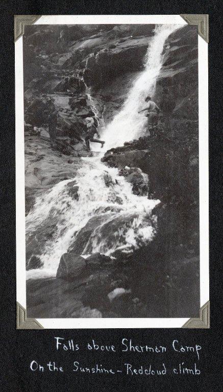 Waterfall on Sunshine–Redcloud climb