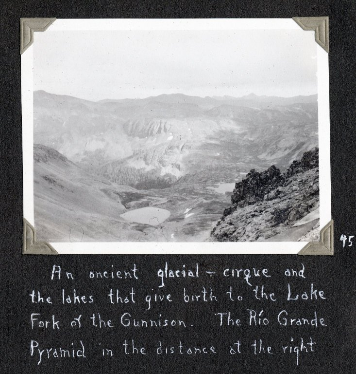 Glacial–cirque and lakes from which Lake Fork of the Gunnison was created
