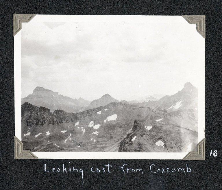 Looking east from Coxcomb Peak