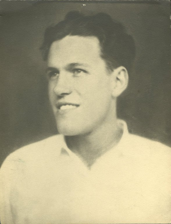 Untitled black-and-white portrait of Dwight G. Lavender.