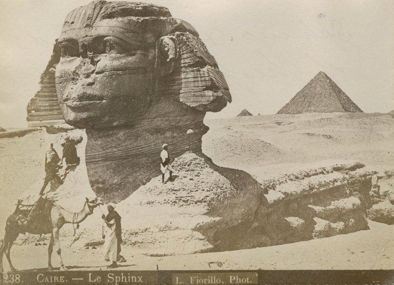 Great Sphinx of Giza in 3/4 profile