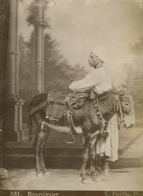 Man with donkey or ass
