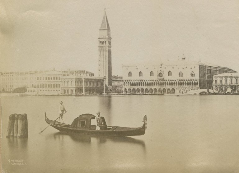 Venice panorama with gondola