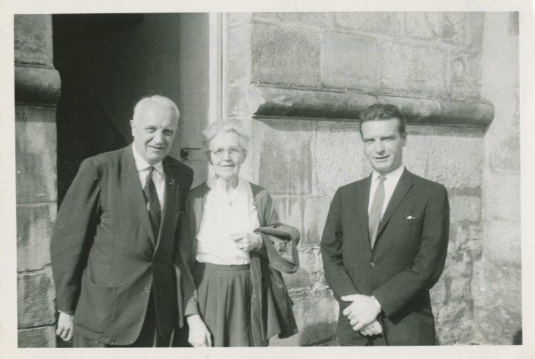 Photograph: Nadia Boulanger with Robert and Jean Casadesus