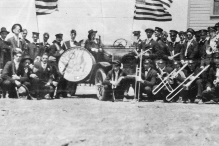 Hanna, Wyo. 1920. Labor Day Parade