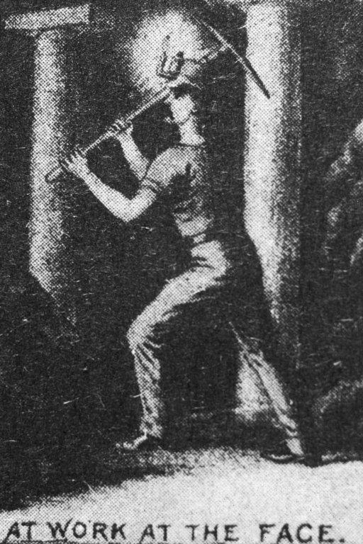 Illustration of miner at work