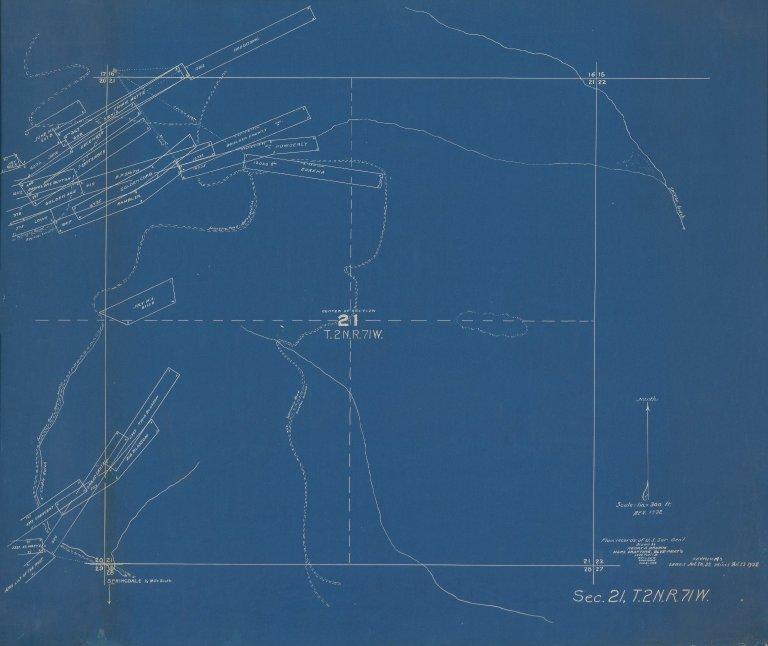 Map of Sec.21, T.2N.R71W.