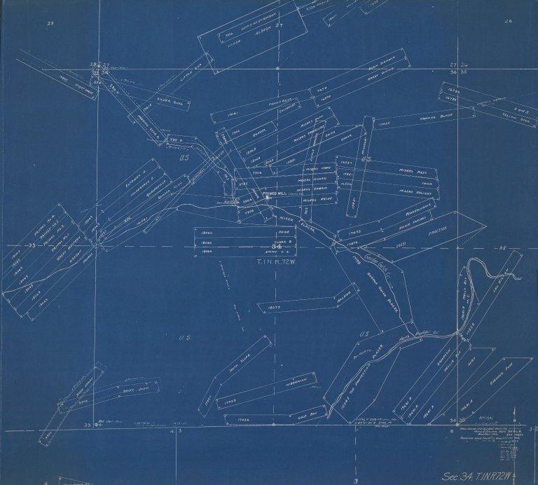 Map of Sec.34, T.1N.R.72W.