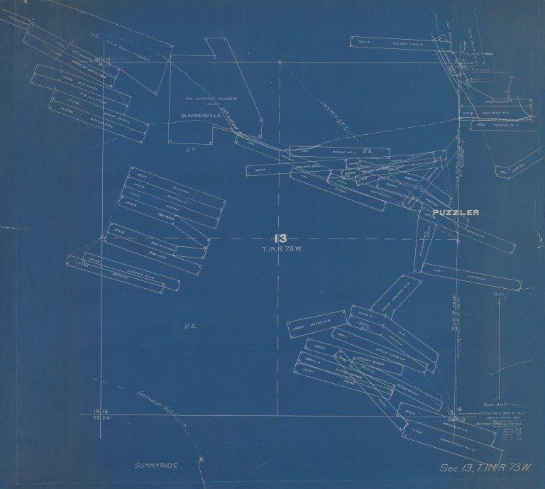 Map of Sec.13, T.1N.R.73W.