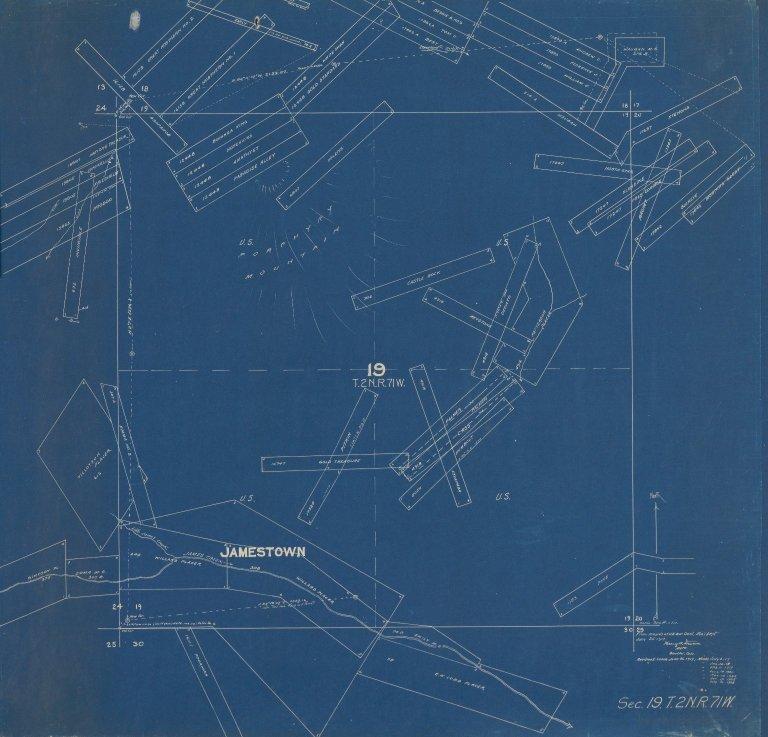 Map of Sec. 19, T.2N.R.71W.