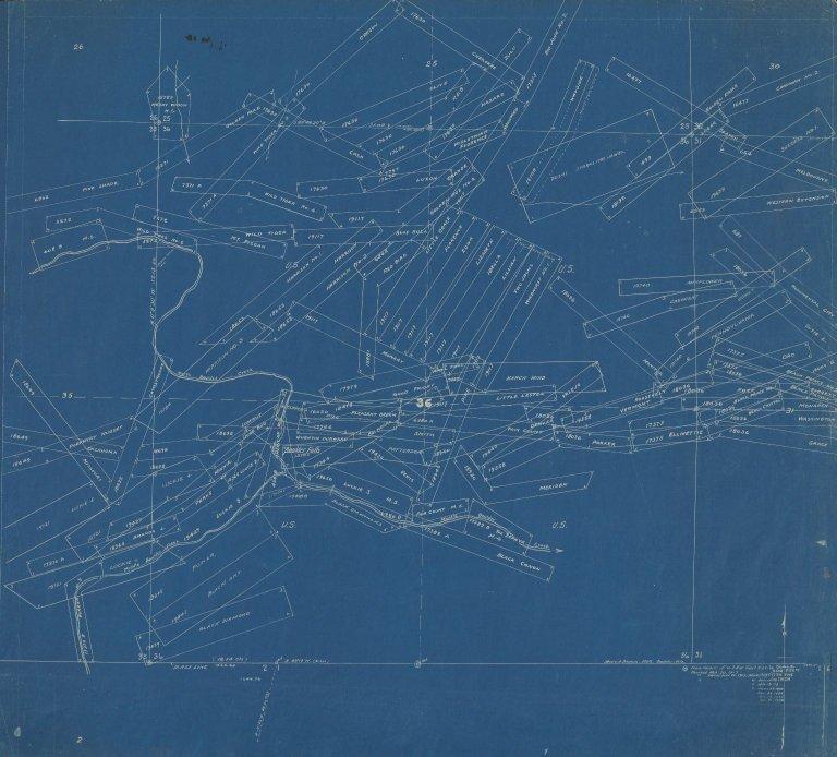 Map of Sec.36, T.1N.R.72W.