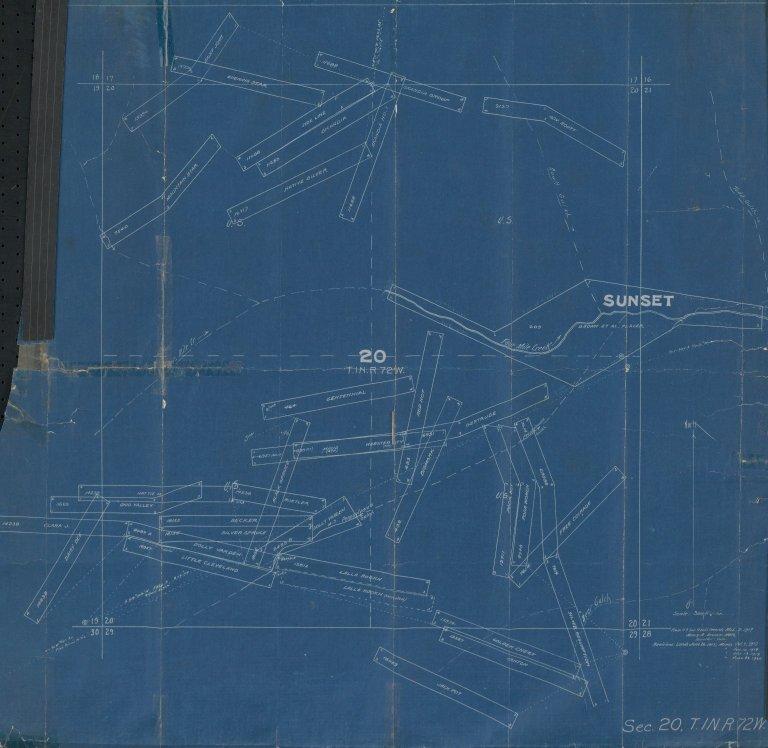 Map of Sec.20, T.1N.R.72W.