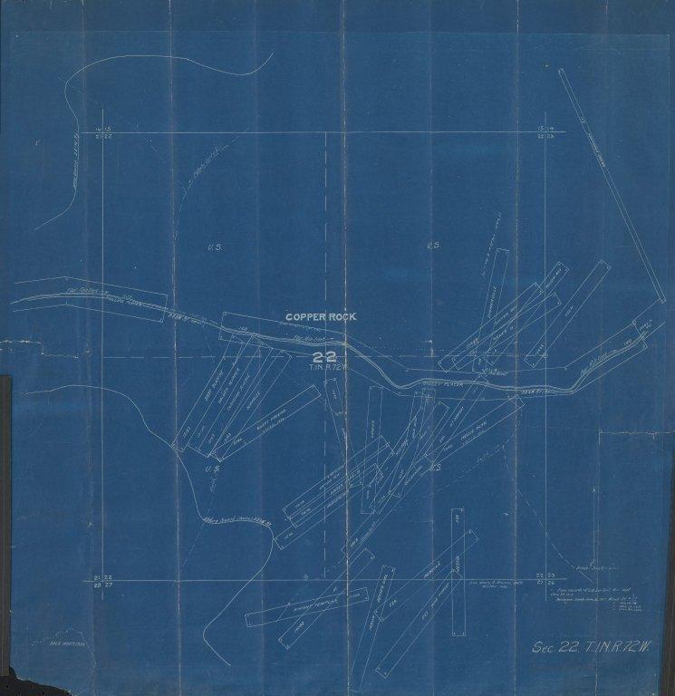 Map of Sec.22, T.1N.R.72W.