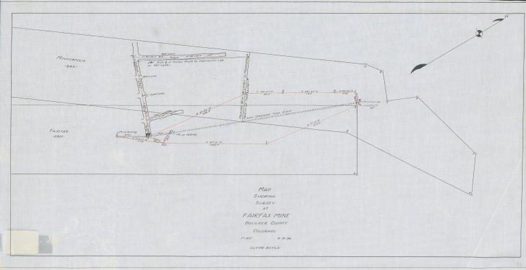 Map Showing Survey of Fairfax Mine