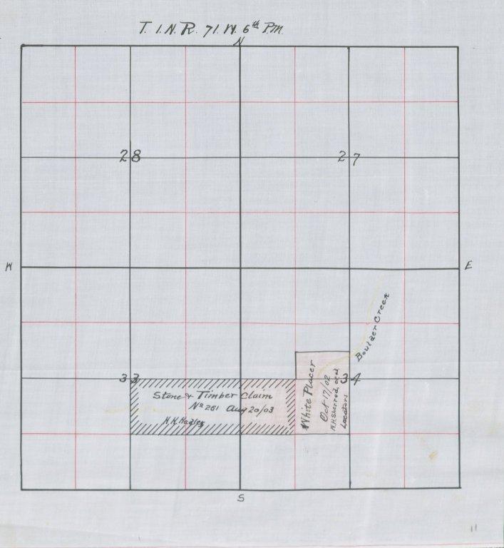 Map of Sec.34, T.1N.R.71W.