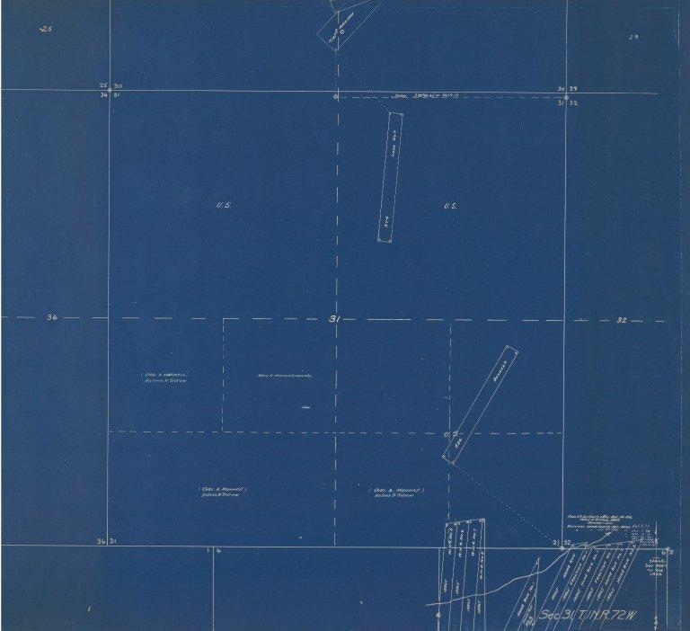 Map of Sec.21, T.2N.R.71W.