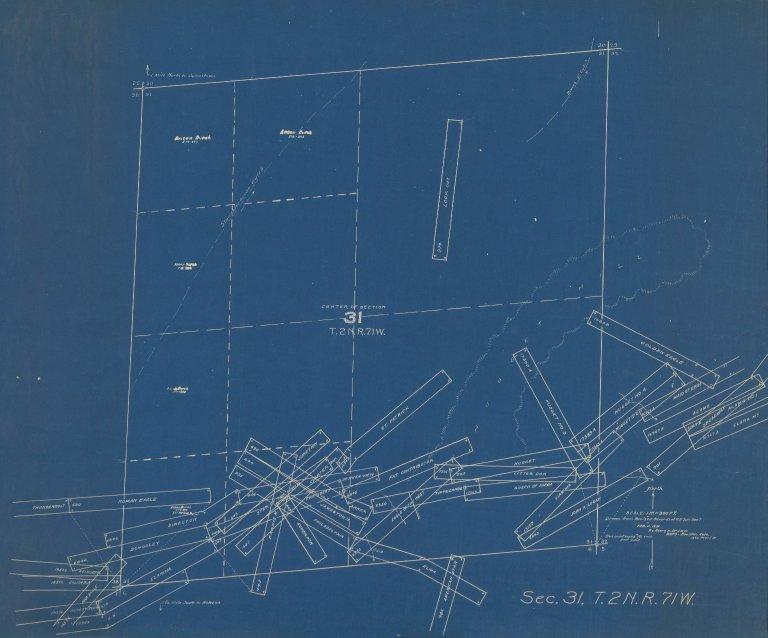 Map of Sec.31, T.2N.R.71W.