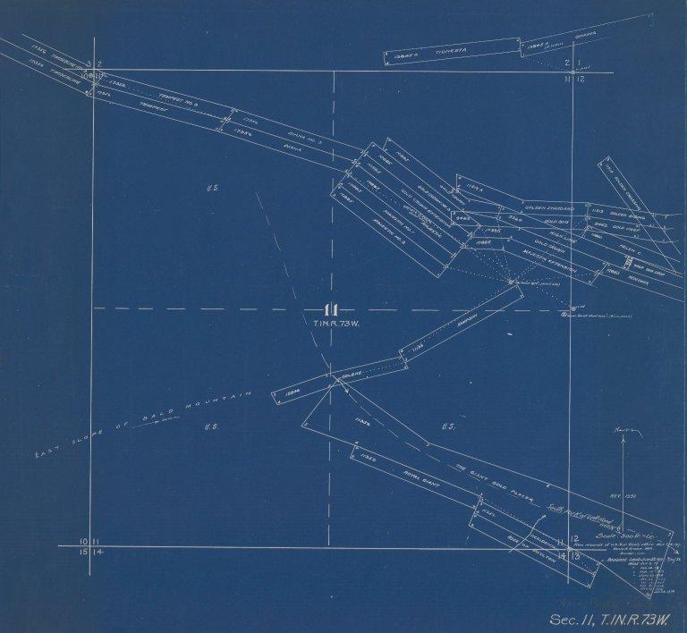 Map of Sec.11, T.1N.R.73W.
