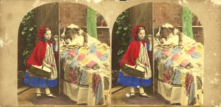 Little Red Riding Hood stereoscopic views