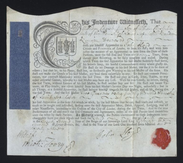 William Chesterton indenture (MS 400)