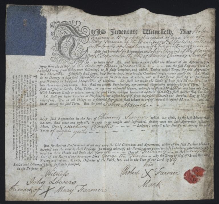 Robert Farmer indenture (MS 401)