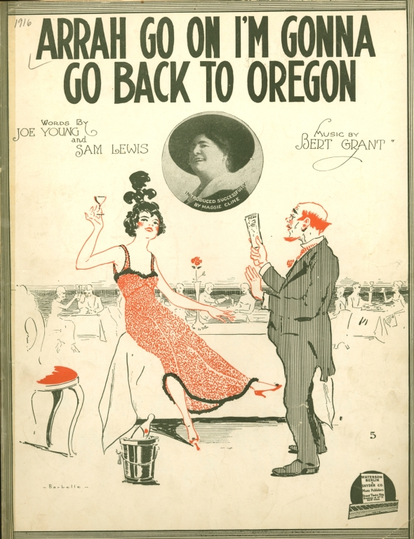 Arrah go on, I'm gonna go back to Oregon