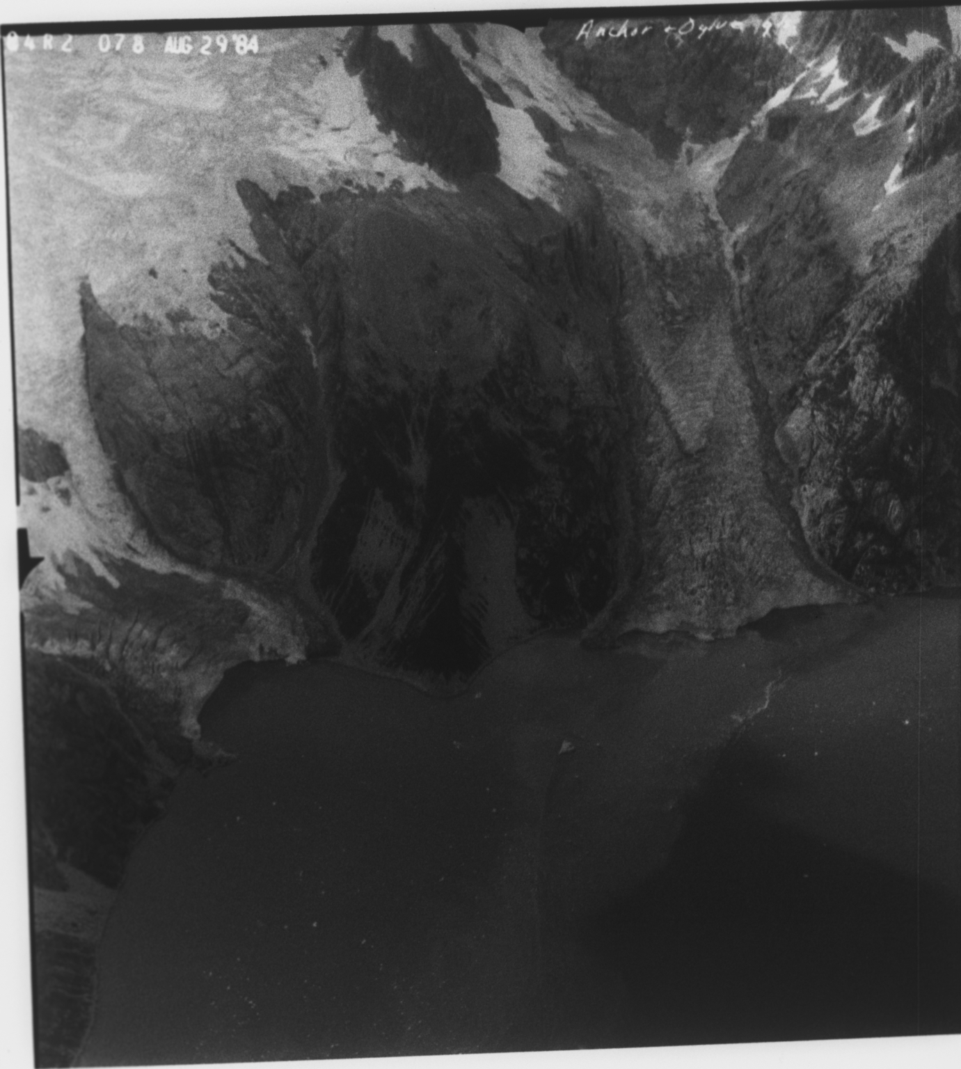 Anchor and Ogive Glacier, Alaska, United States