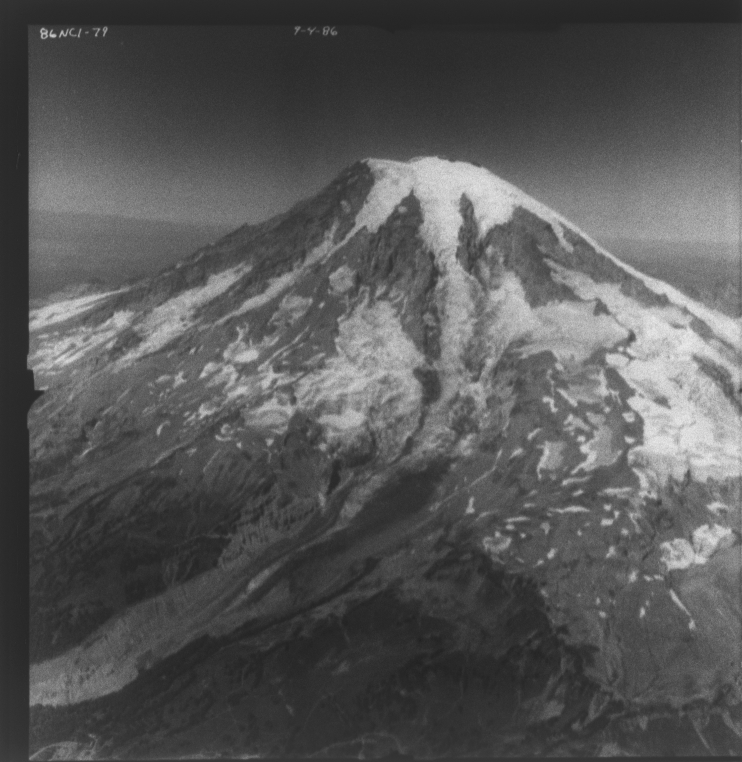 Nisqually Glacier, aerial photograph FL 86NC1, Washington, United States