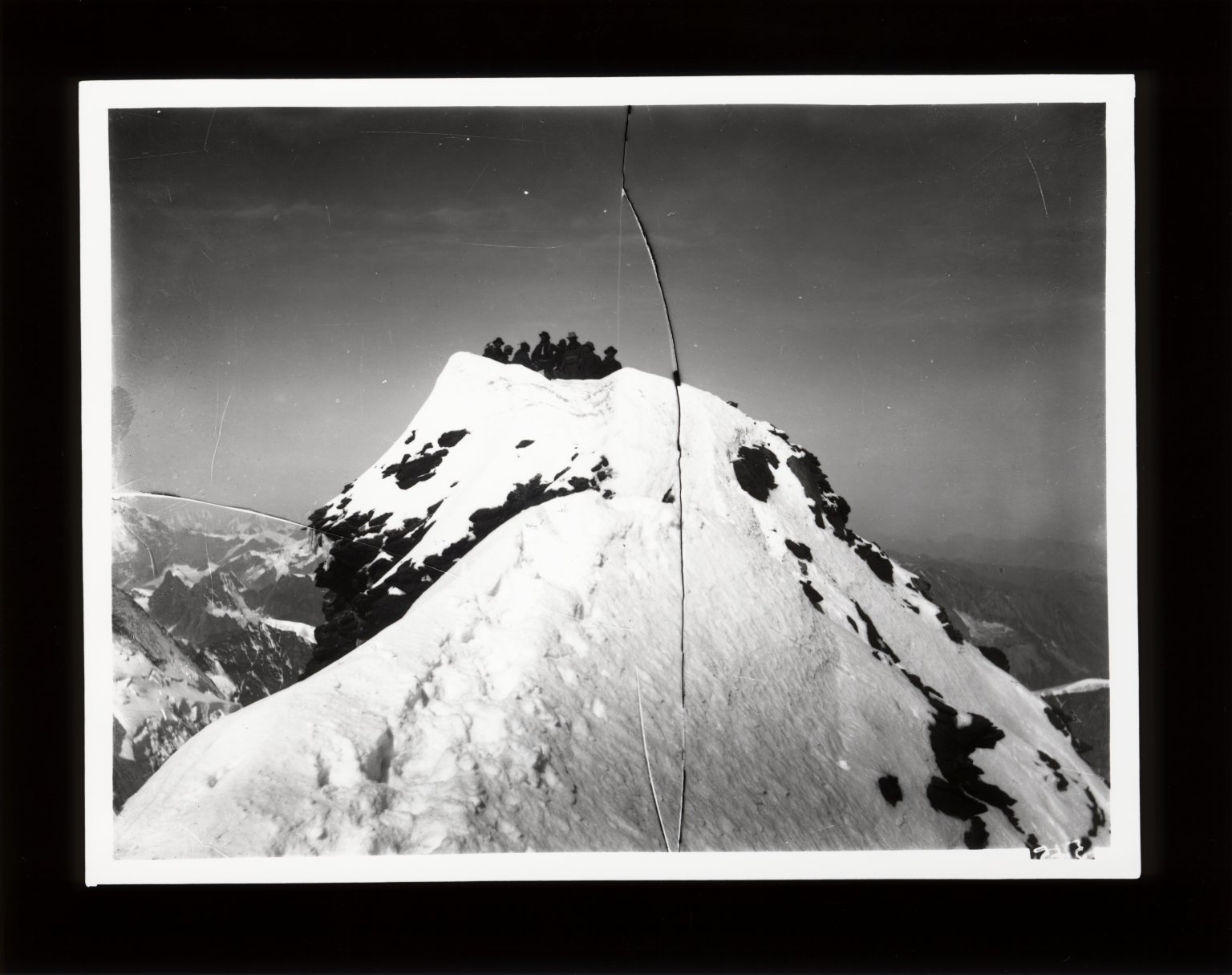 A group of people on Matterhorn, Italy and Switzerland