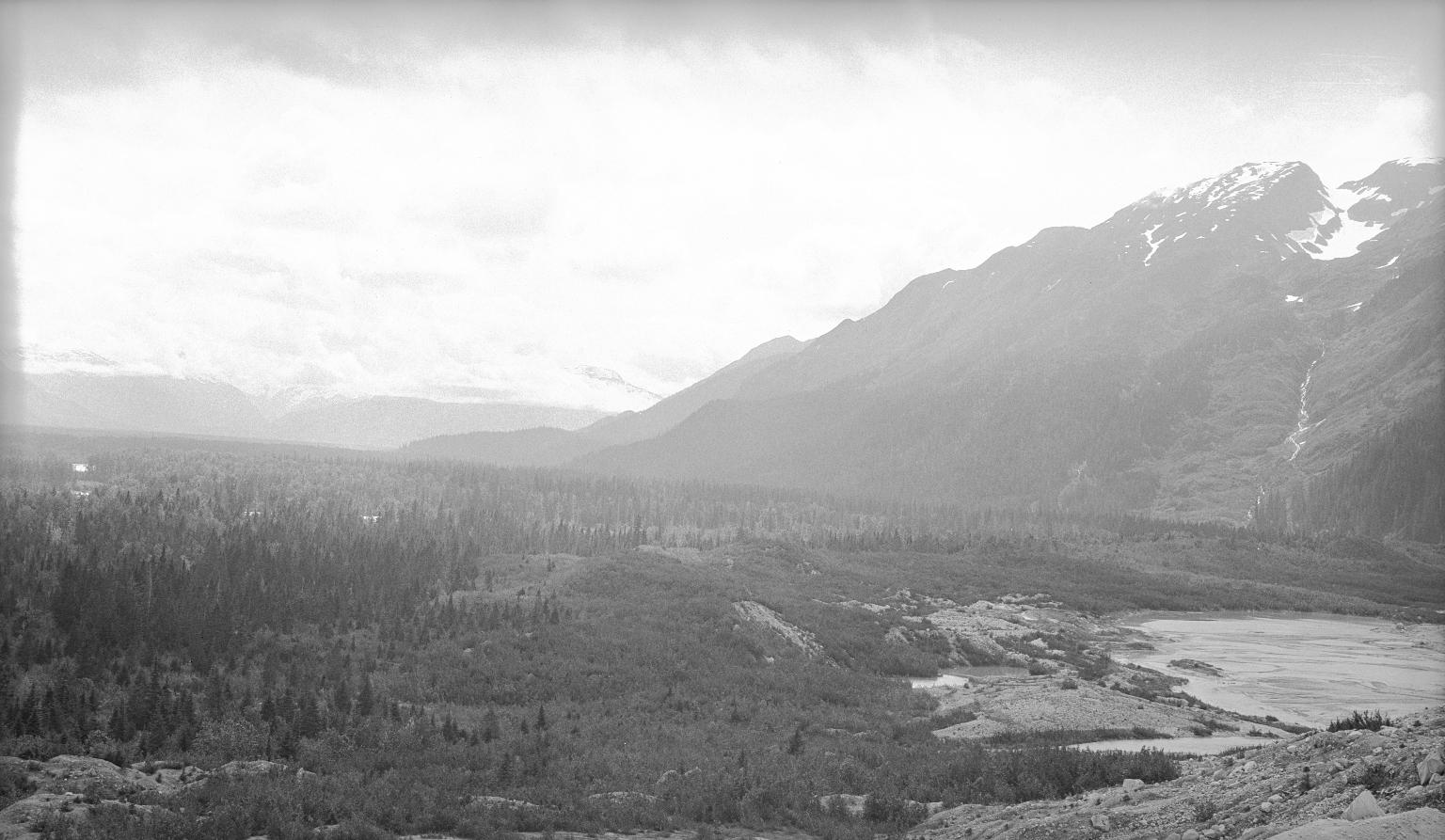 Moraine of Great Glacier, Alaska, United States and British Columbia, Canada