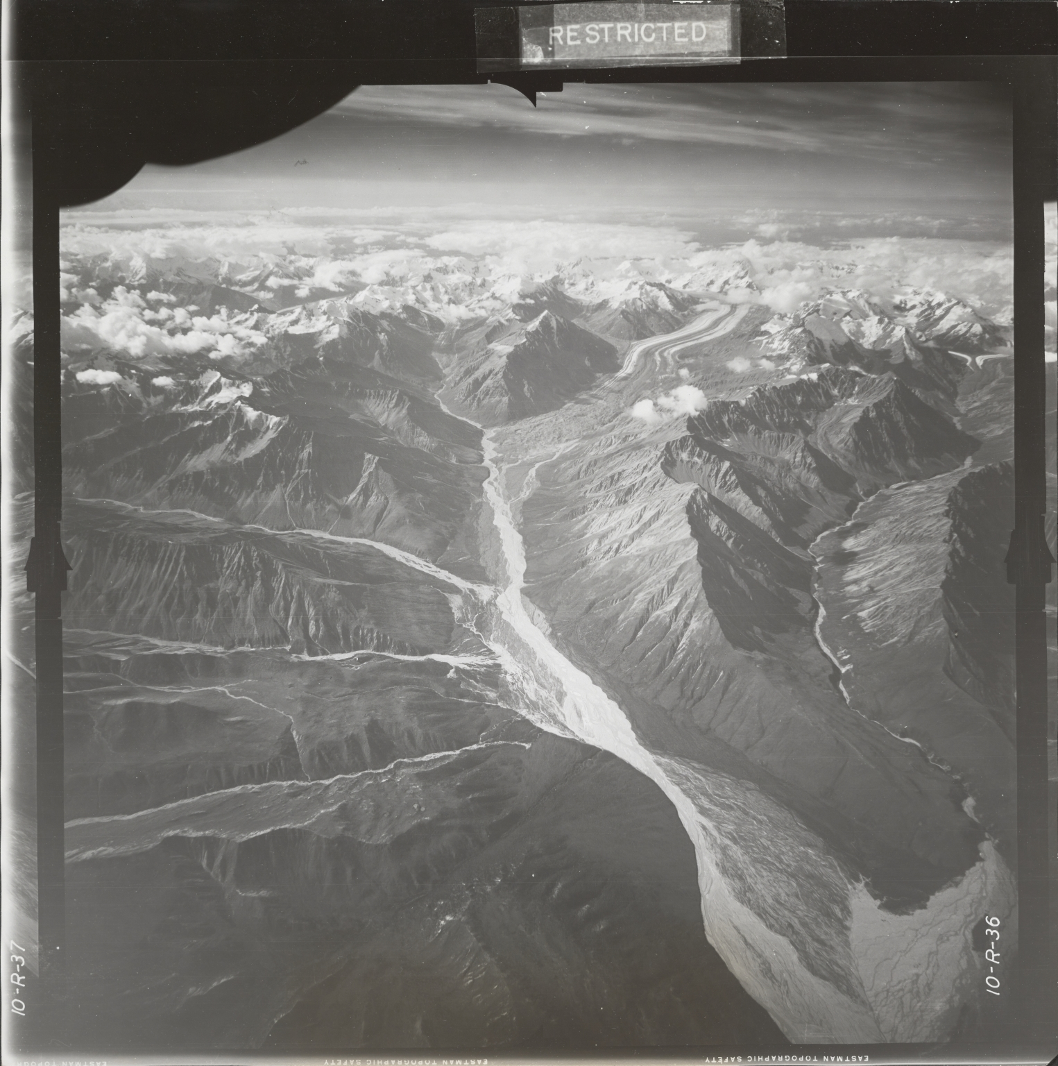 At head of Johnson River, aerial photograph FL 18 R-36, Alaska