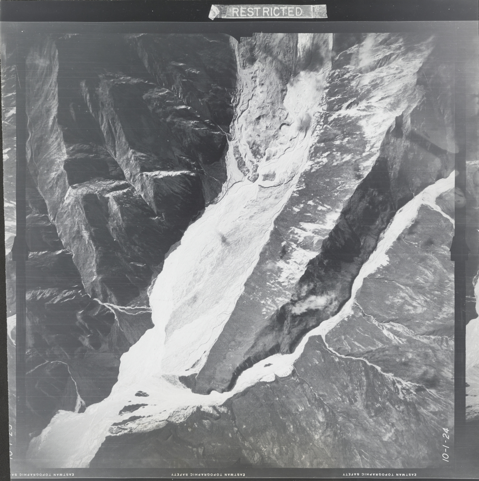 At head of Gerstle River, aerial photograph FL 18 V-24, Alaska